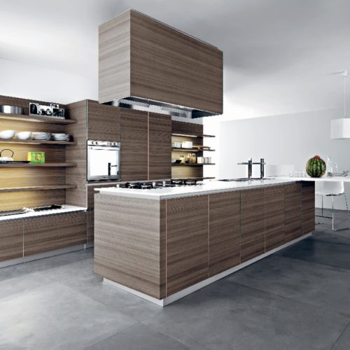 Cesar Ariel Kitchen in Lava Teak