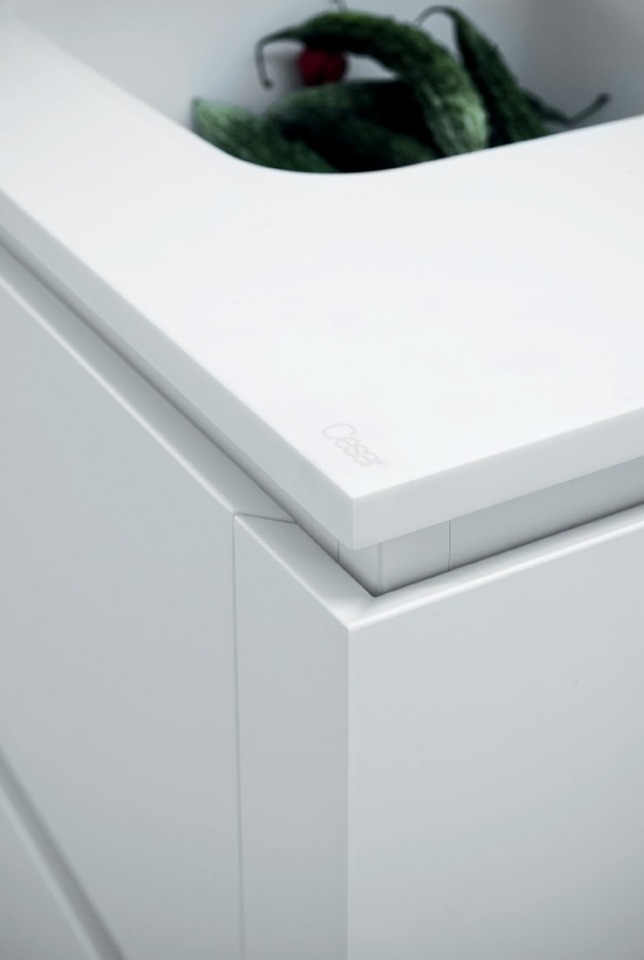 Cloe Kitchen in White Lacquer and Oak - Cesar NYC Kitchens
