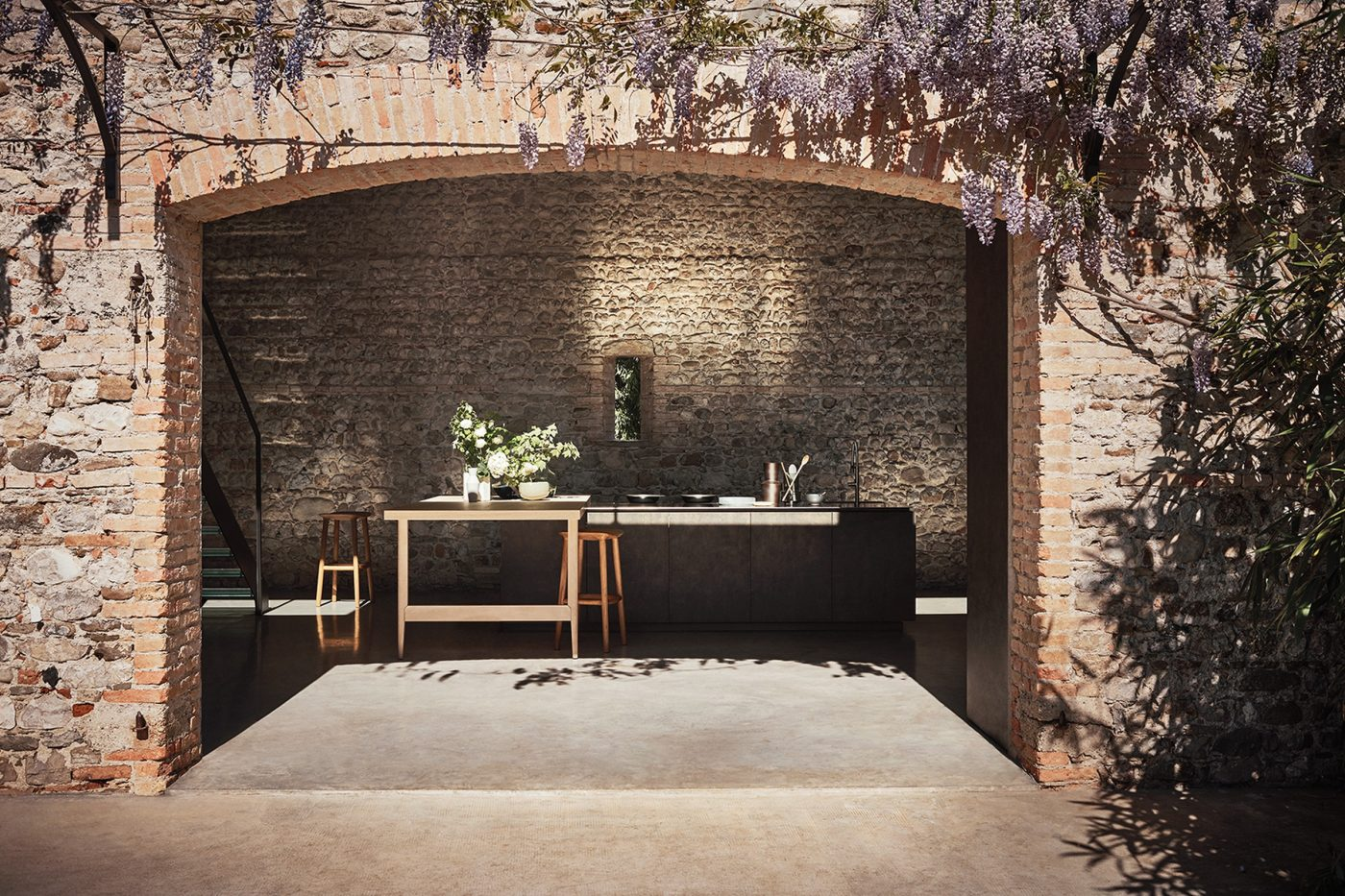 Brown Kitchen From Exteriors By Cesar NYC