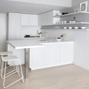 Cesar White Italian Kitchen Cabinets In Midtown West NYC