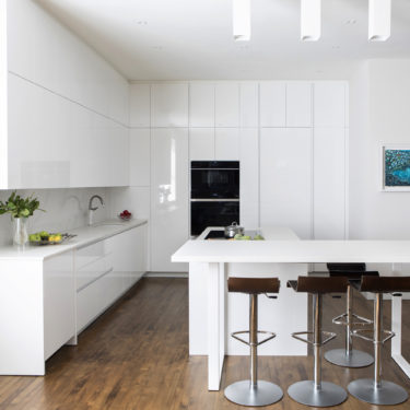 Cesar NYC Modern White Lacquer Kitchen In Tribeca NYC