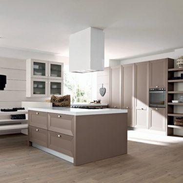 Cesar Noa Transitional Kitchen in Clay Pine